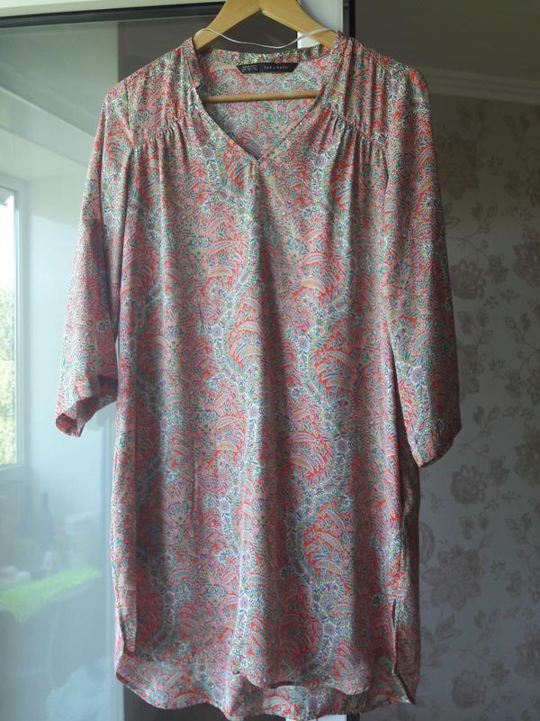 Платье-рубашка zara, размер с\м - Фото 3