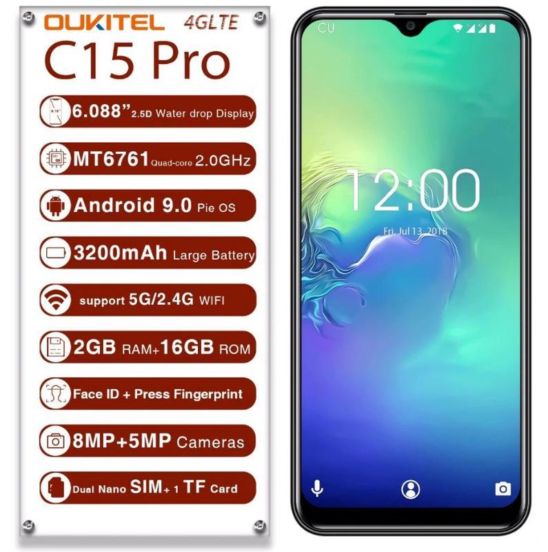 Телефон. Смартфон Oukitel C15 Pro. Новинка 2019 года