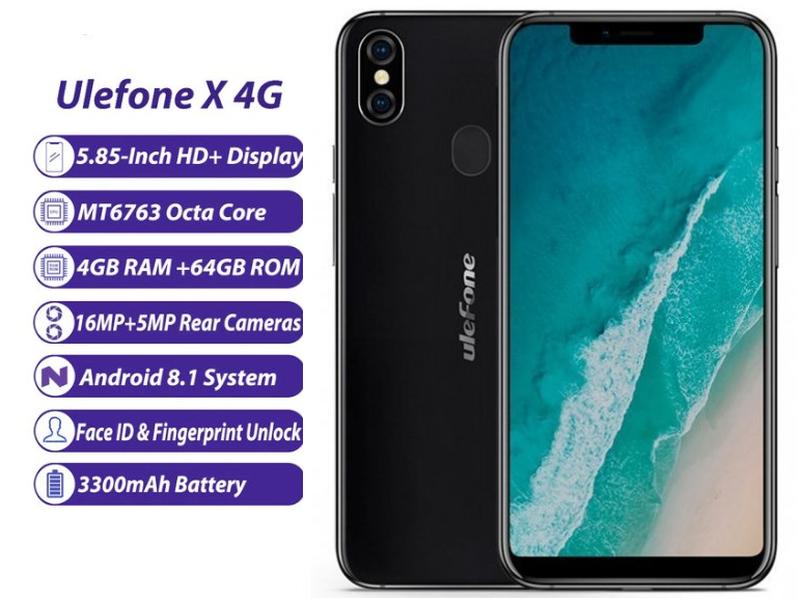 """Телефон. Смартфон Ulefone X. 4/64 Гб, 5,85""""экран, 8 ядер."""