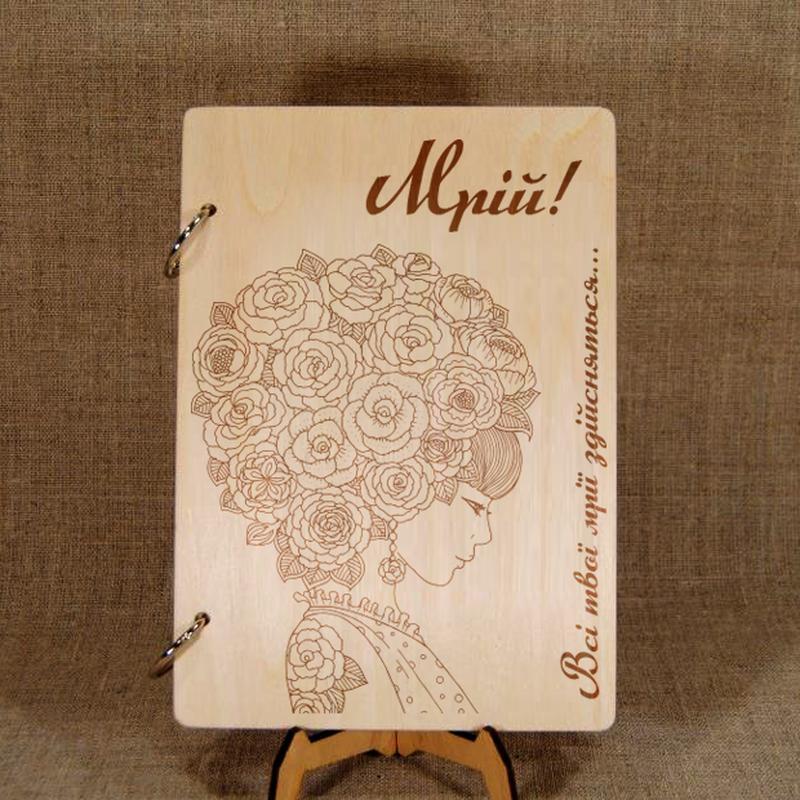 Деревянный блокнот, именной подарок, подарок учителю, эксклюзив - Фото 2