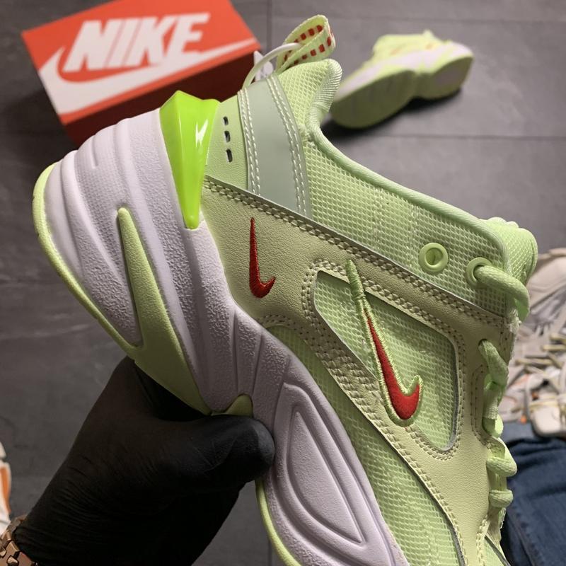 Женские кроссовки  nike m2k tekno (зеленые) - Фото 2