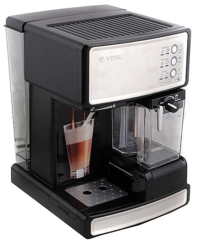Кофеварка рожковая Vitek VT-1514 эспрессо полуавтоматическая - Фото 2
