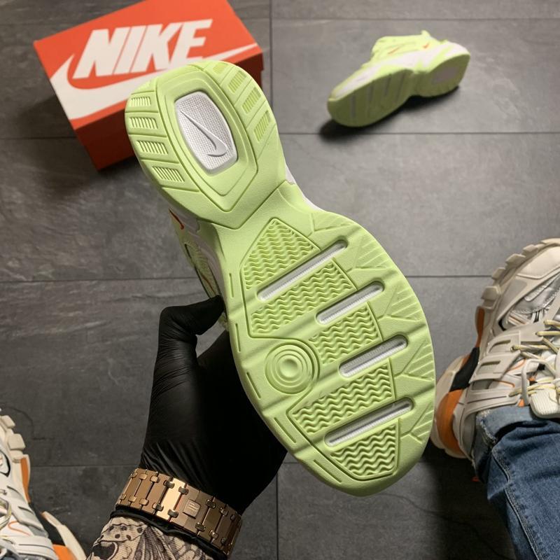 Женские кроссовки  nike m2k tekno (зеленые) - Фото 4
