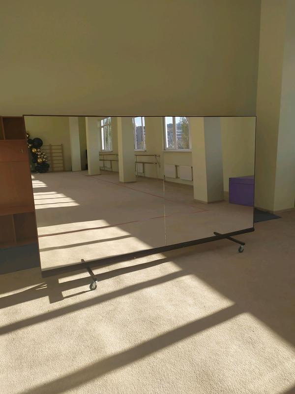 Зеркала в спортзал танцевальную студию Софиевская борщаговка - Фото 3