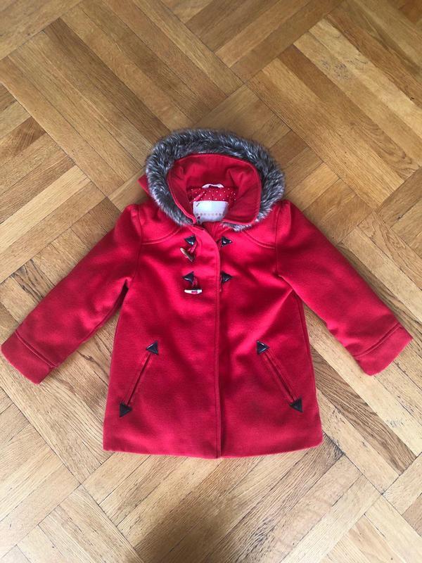 Красное Детское Пальто для Девочек (Kid Kanai)