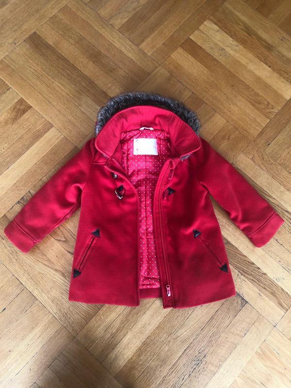 Красное Детское Пальто для Девочек (Kid Kanai) - Фото 2