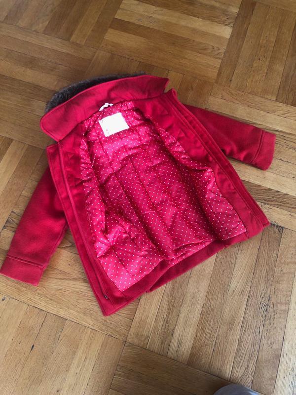 Красное Детское Пальто для Девочек (Kid Kanai) - Фото 3