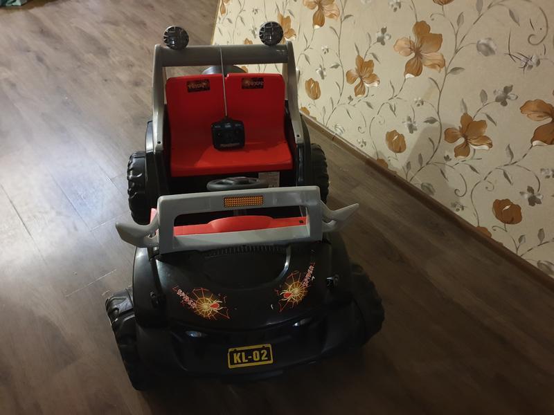 Детский электромобиль,производитель Tilly,черный двухместный джип - Фото 3