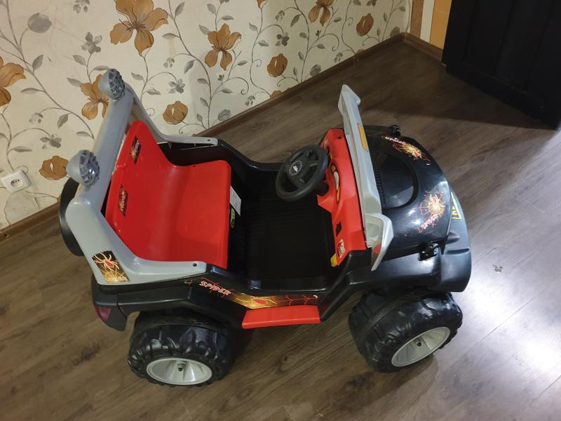 Детский электромобиль,производитель Tilly,черный двухместный джип - Фото 4