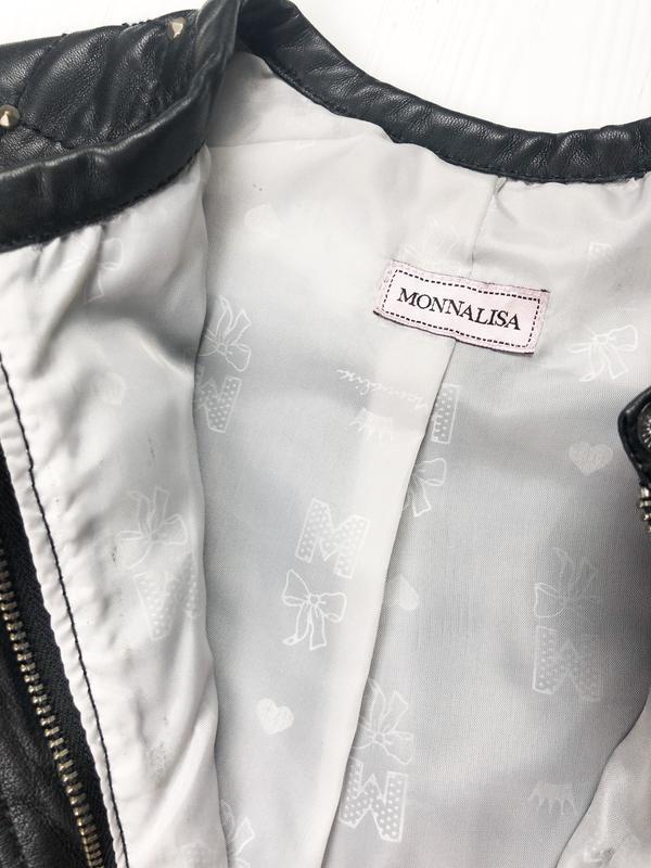 Куртка на девочку , эко кожа Monnalisa СКИДКИ - Фото 5