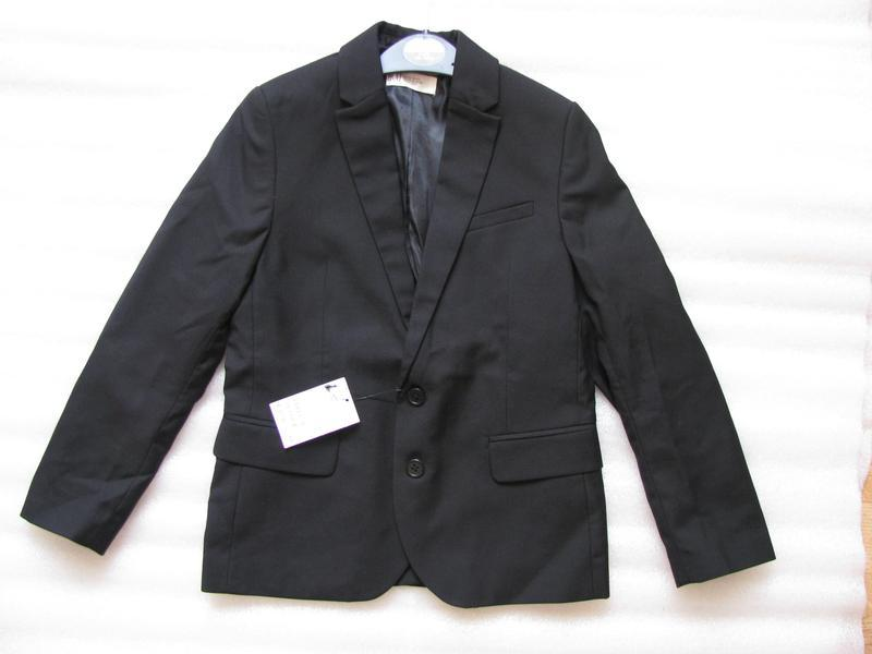 Пиджак черный h&m для мальчика, р. 134 - Фото 2