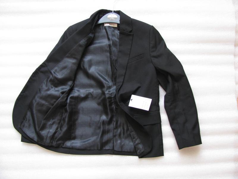 Пиджак черный h&m для мальчика, р. 134 - Фото 3