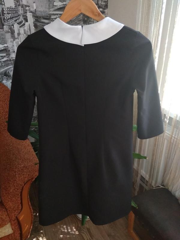 Платье чёрное с белыми бусинками - Фото 4