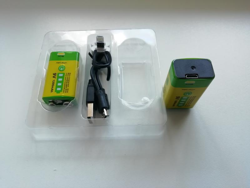 Комплект 2шт аккумулятор Крона 9в (9V 1200mAh Li-Ion 6F22) - Фото 3