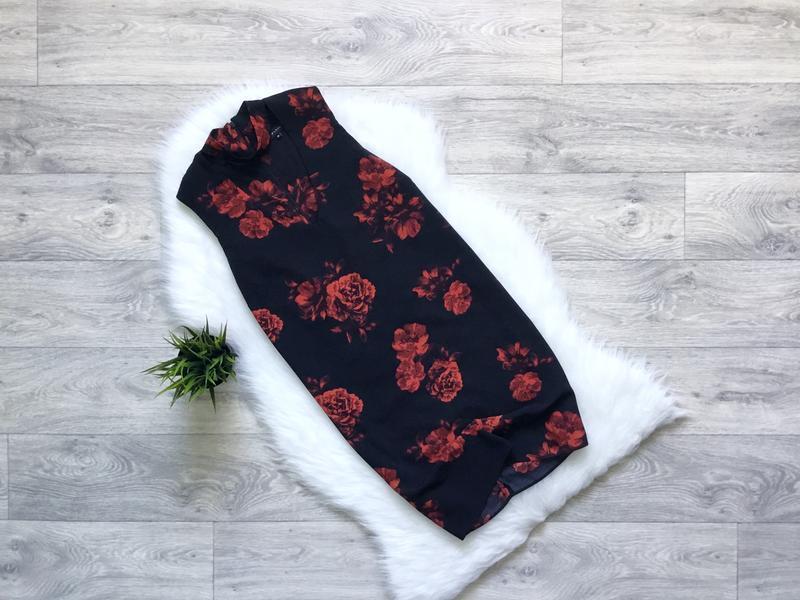 Платье с чекером в цветы