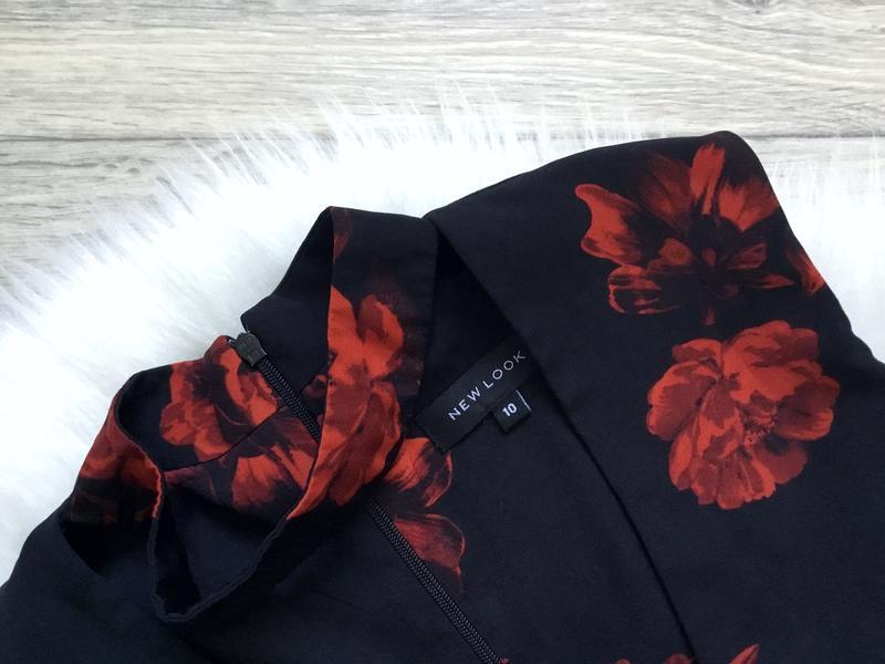 Платье с чекером в цветы - Фото 2