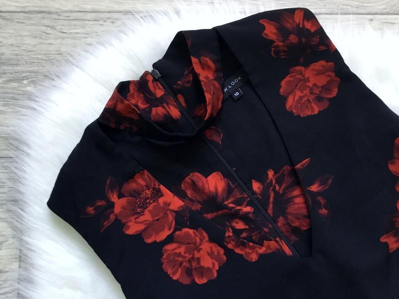 Платье с чекером в цветы - Фото 5