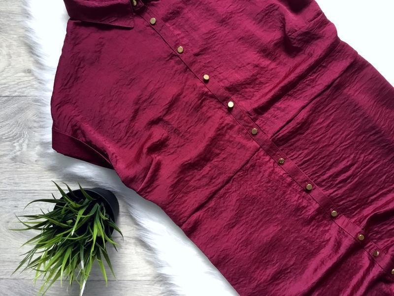 Платье летнее цвета марсала - Фото 2