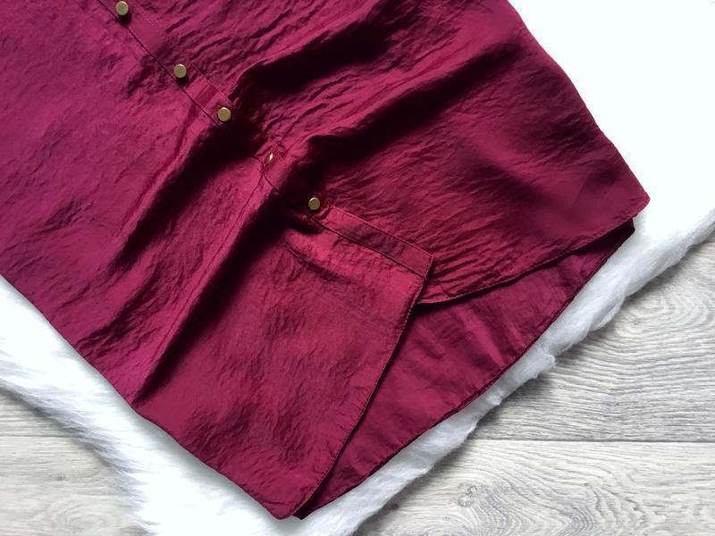 Платье летнее цвета марсала - Фото 3