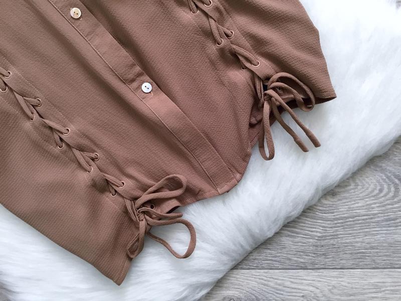 Удлиненная рубашка с завязками - Фото 3