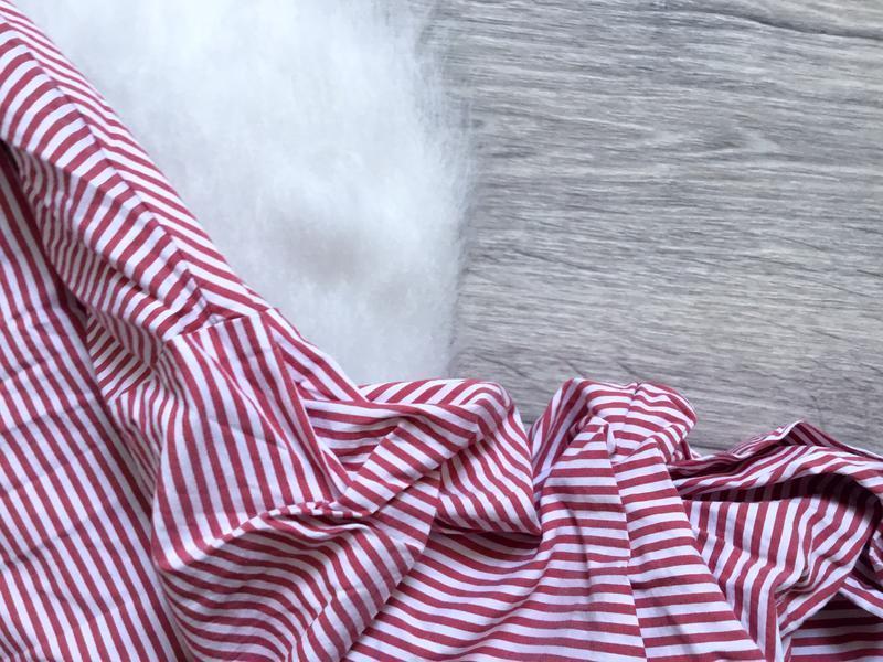Рубашка в полоску с обьемными рукавами и  с поясом от zara - Фото 3