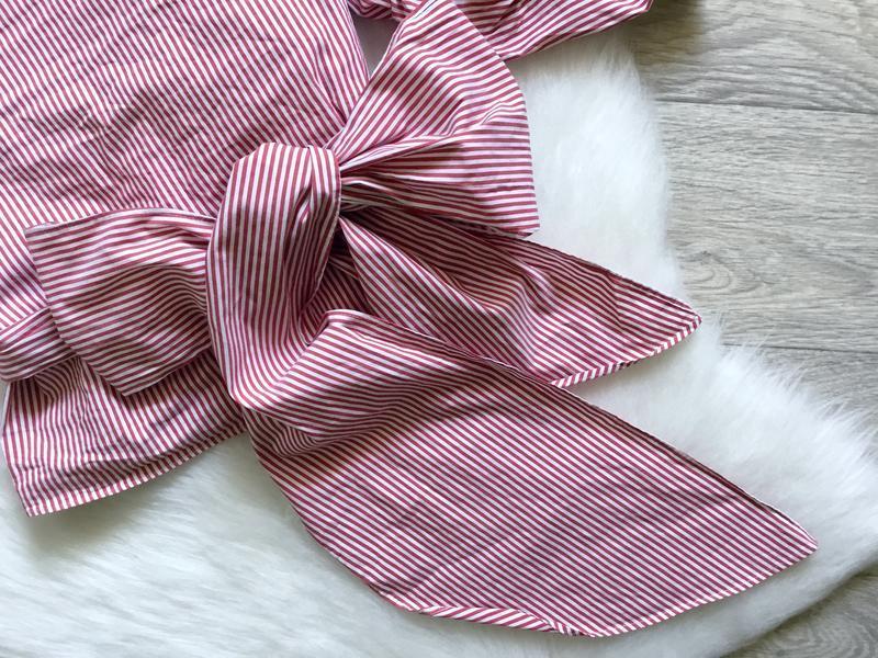 Рубашка в полоску с обьемными рукавами и  с поясом от zara - Фото 5
