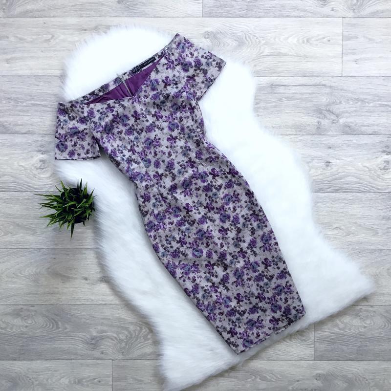 Платье с приоткрытыми плечами от zara