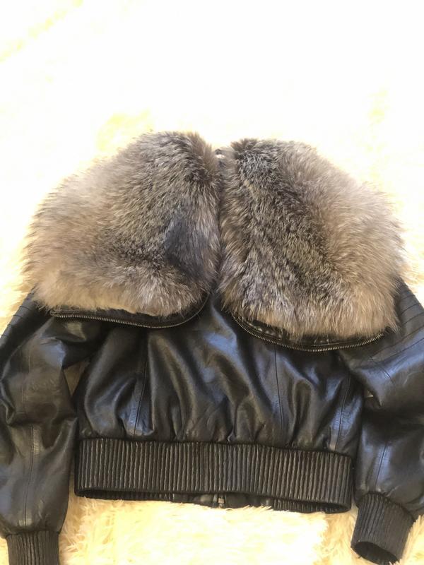 Куртка чернобурка - Фото 2