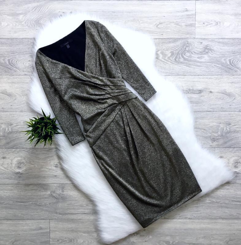 Платье с золотым напылением