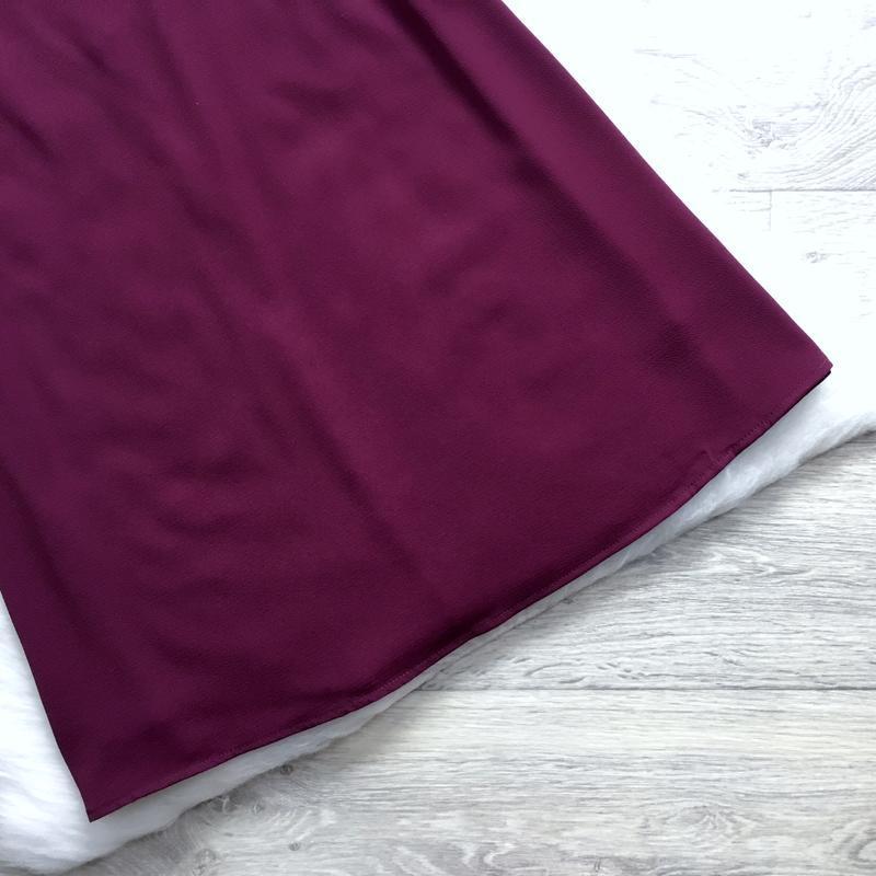 Платье цвета марсала - Фото 2