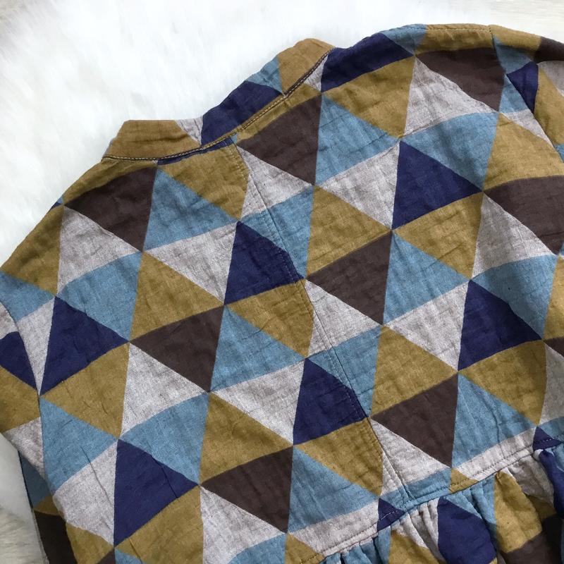Платье оверсайз свободного кроя (в составе есть лён) - Фото 2
