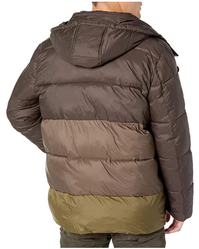 Marc new york by andrew marc мужской пуховик куртка оливковый ... - Фото 3