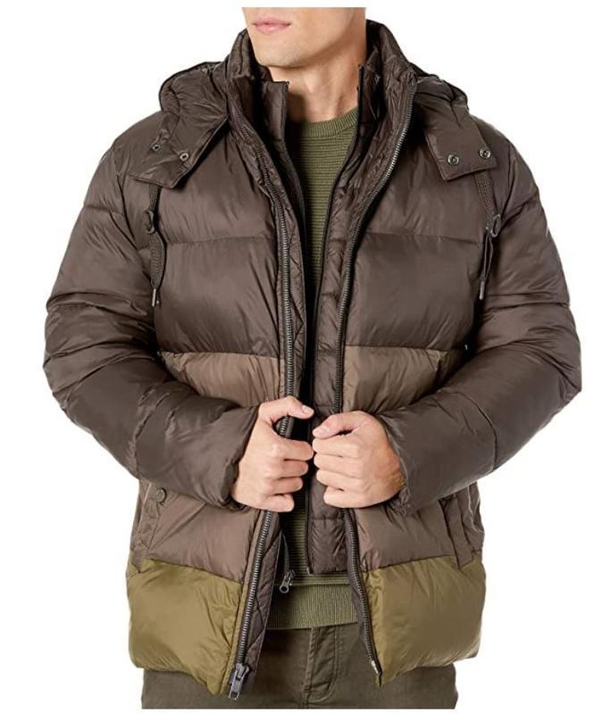 Marc new york by andrew marc мужской пуховик куртка оливковый ... - Фото 4