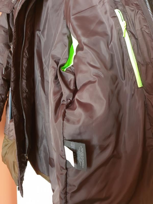 Marc new york by andrew marc мужской пуховик куртка оливковый ... - Фото 6
