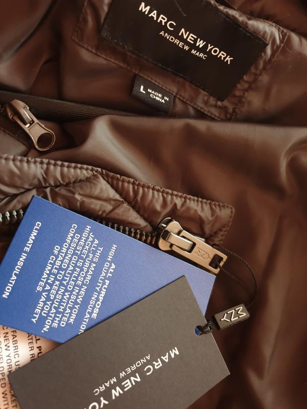 Marc new york by andrew marc мужской пуховик куртка оливковый ... - Фото 8