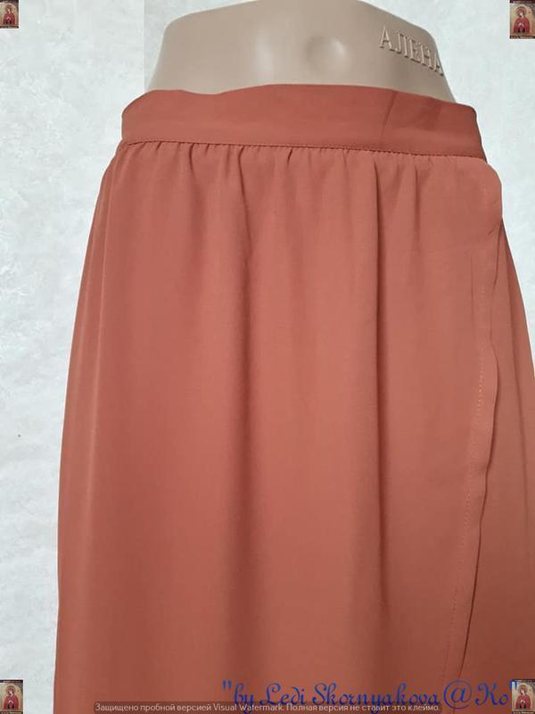 Фирменная rainbow collection юбка в пол кирпичного цвета на за... - Фото 5