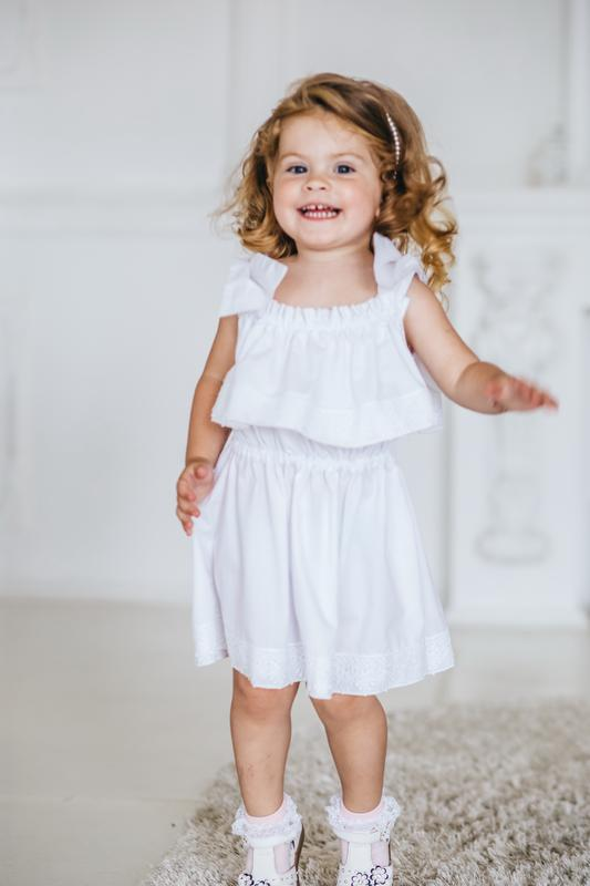 Стильное дизайнерское платье для девочек 01g19s03w - Фото 3