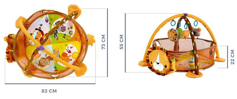 Детский развивающий коврик Львененок марки Kindereo