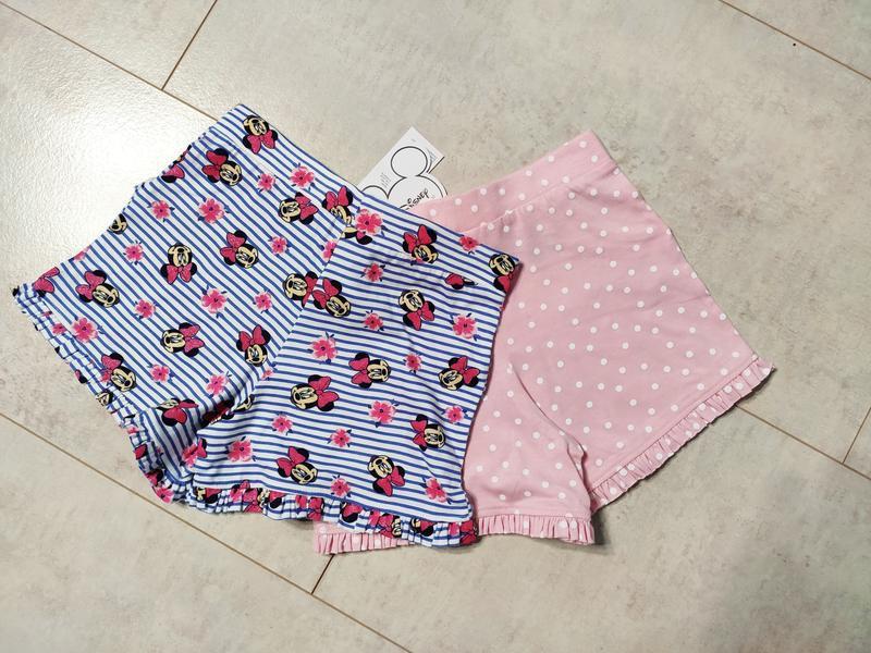 Набор шортиков на девочку, 2 штуки в наборе, шорты хлопок от д... - Фото 3