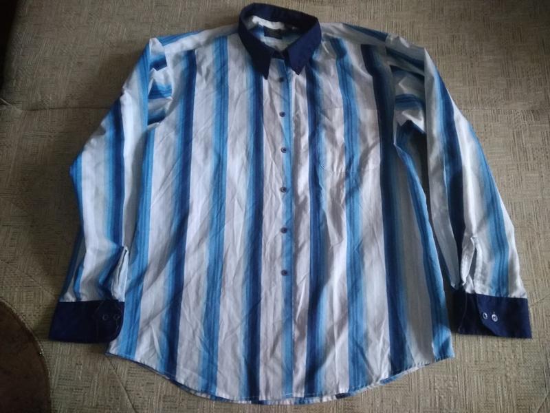 Чоловіча рубашка в полоску