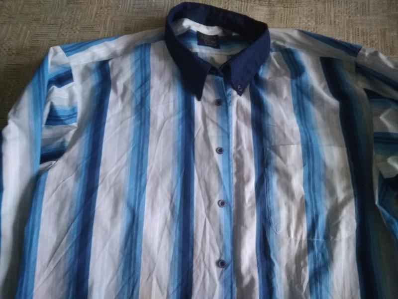 Чоловіча рубашка в полоску - Фото 2