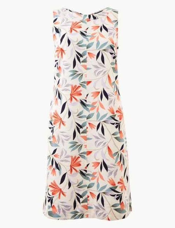 Шикарное льняное платье-шифт ровной модели