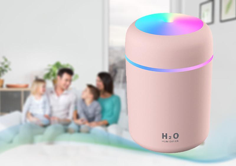 Увлажнитель воздуха мини Adna Humidifier DQ107 розовый - Фото 2