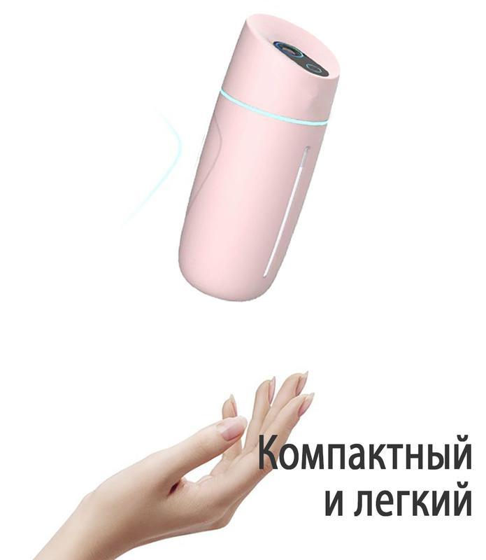 Увлажнитель воздуха портативный Adna Humidifier Q1 розовый - Фото 6