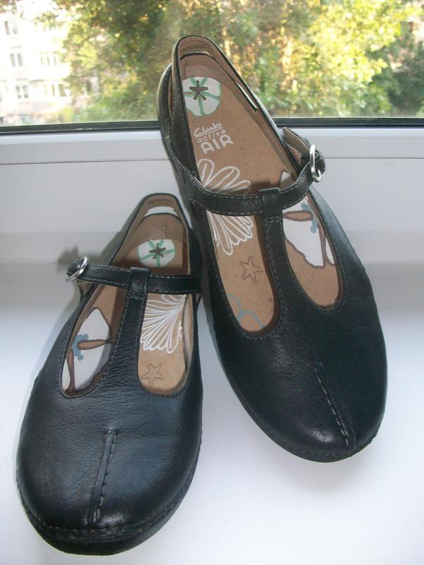 Туфли женские натуральная кожа clarks р.39