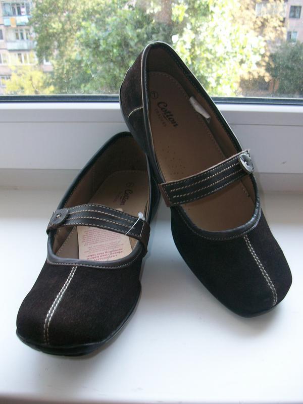 Туфли женские натуральная замша cotton р.39