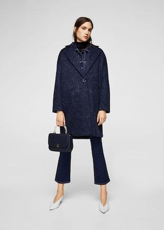 Демисезонное шерстяное пальто Mango