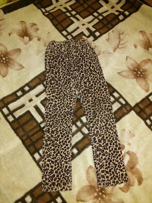 Леопардовые штаны на девочку 7-8 лет