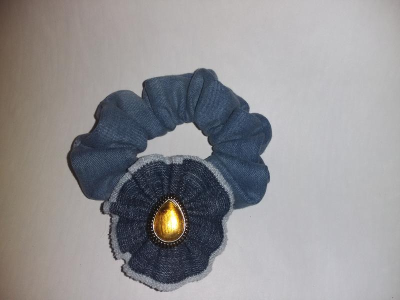 Джинсовая резинка для волос , джинс , джинса
