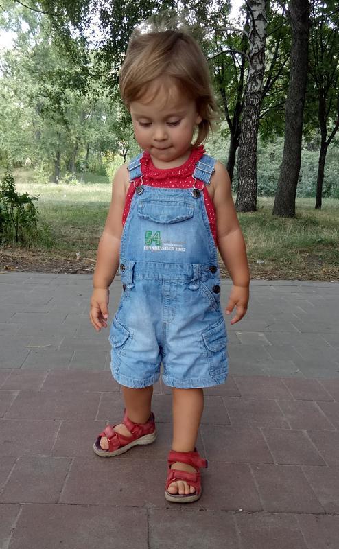 Джинсовый комбинезон next шорты - Фото 2